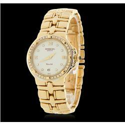Raymond Weil Parisfal 18KT Yellow Gold Diamond Wristwatch