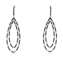 14KT White Gold 0.70 ctw Diamond Earrings