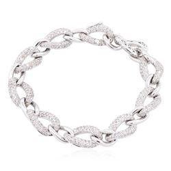 14KT White Gold 2.16 ctw Diamond Bracelet