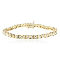14KT Yellow Gold 6.75 ctw Diamond Tennis Bracelet