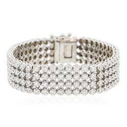 14KT White Gold 9.72 ctw Diamond Bracelet