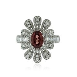 14KT White Gold 1.42 ctw Pink Spinel and Diamond Ring