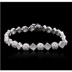 14KT White Gold 1.69 ctw Diamond Bracelet