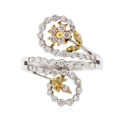 18KT Two-Tone Gold 0.60 ctw Diamond Ring