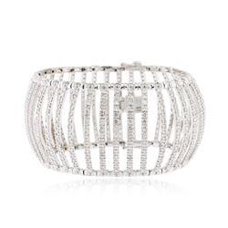 18KT White Gold 12.60 ctw Diamond Bracelet