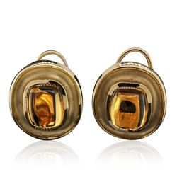 14KT Yellow Gold Citrine Earrings
