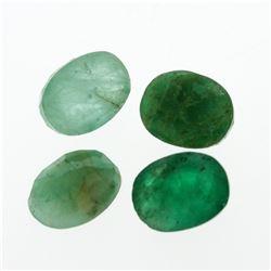 6.05 cts. Oval Cut Natural Emerald Parcel
