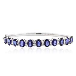 14KT White Gold 11.45 ctw Sapphire and Diamond Bracelet