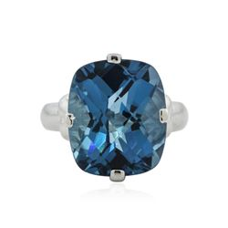 10KT White Gold 5.00 ctw Topaz Ring