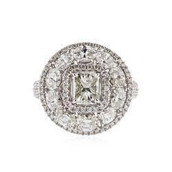18KT White Gold 3.52 ctw Diamond Ring