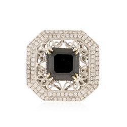 14KT White Gold 8.81 ctw Black Diamond Ring