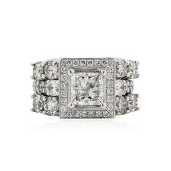 Platinum 4.01 ctw Diamond Ring