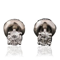 14KT White Gold 0.51 ctw Diamond Stud Earrings