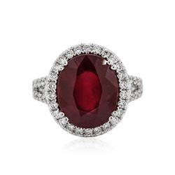 18KT White Gold 8.20 ctw Ruby and Diamond Ring