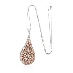 14KT Two-Tone Gold 6.58 ctw Diamond Pendant With Chain