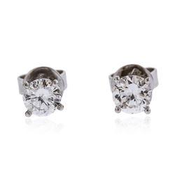 14KT White Gold 0.63 ctw Diamond Stud Earrings