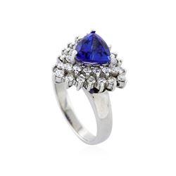 14KT White Gold 2.16 ctw Tanzanite and Diamond Ring