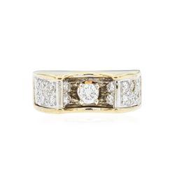18KT Yellow Gold 0.45 ctw Diamond Ring
