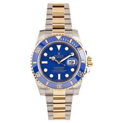Gents Rolex Two Tone Gold Submariner Wristwatch