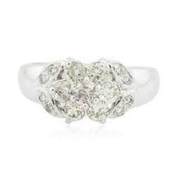 14KT White Gold 0.65 ctw Diamond Ring