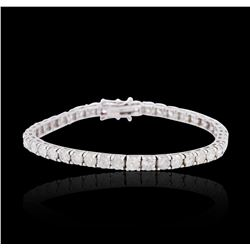 18KT White Gold 9.92 ctw Diamond Tennis Bracelet
