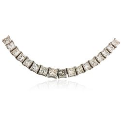 18KT White Gold 24.39 ctw Diamond Necklace