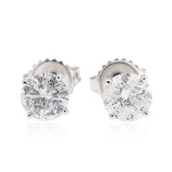 14KT White Gold 1.61 ctw Diamond Stud Earrings