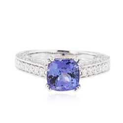 14KT White Gold 1.98 ctw Tanzanite and Diamond Ring