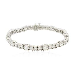 14KT White Gold 9.75 ctw Diamond Tennis Bracelet