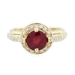 14KT Yellow Gold 1.56 ctw Ruby and Diamond Ring