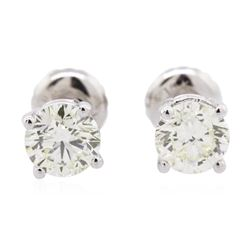 14KT White Gold 1.20 ctw Diamond Solitaire Earrings