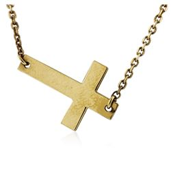 14KT Yellow Gold Cross Necklace