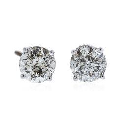 14KT White Gold 3.23 ctw Diamond Stud Earrings