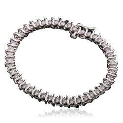 14KT White Gold 1.00 ctw Diamond Bracelet