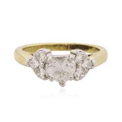 18KT Yellow Gold 1.44 ctw Heart Cut Diamond Ring