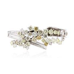 14KT White Gold 13.56 ctw Diamond Bangle Bracelet