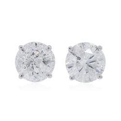 14KT White Gold 3.20 ctw Diamond Stud Earrings