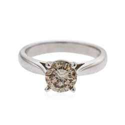 14KT White Gold 1.20 ctw Round Brilliant Cut Diamond Solitaire Ring