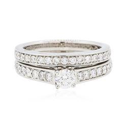 18KT White Gold 0.67 ctw Diamond Ring Wedding Set