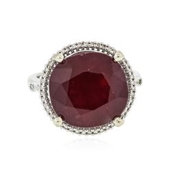 14KT White Gold 12.94 ctw Ruby and Diamond Ring