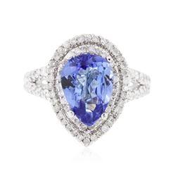 14KT White Gold 3.22 ctw Tanzanite and Diamond Ring