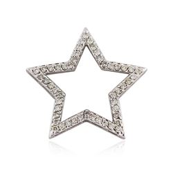 14KT White Gold 0.50 ctw Diamond Pendant