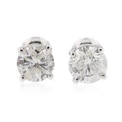 14KT White Gold 1.60 ctw Diamond Stud Earrings