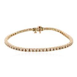 14KT Rose Gold 2.72 ctw Diamond Bracelet