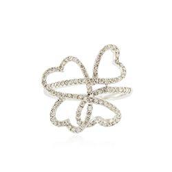 18KT White Gold 0.57 ctw Diamond Ring