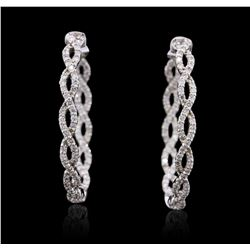 14KT White Gold 1.50 ctw Diamond Earrings