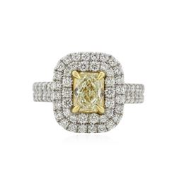 18KT Two-Tone Gold 2.35 ctw Fancy Yellow Diamond Ring