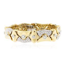18KT Yellow Gold 7.80 ctw Diamond Bracelet