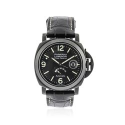 Panerai Black PVD Luminor Power Reserve Wristwatch