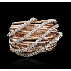 14KT Rose Gold 0.64 ctw Diamond Ring